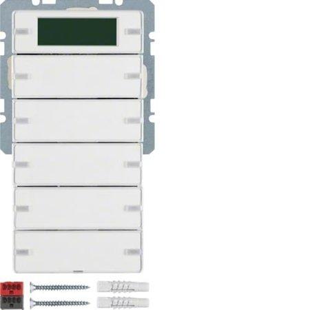 Tastsensor 5fach mit Beschriftungsfeldern RTR Display Q.1/Q.3 polarweiß samt Hager 75665729
