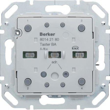 Tastsensor-Modul 2fach mit integriertem Busankoppler KNX S.1/B.x Hager 80142180