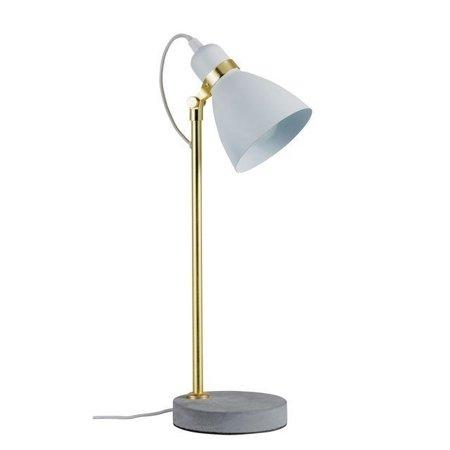 Tischleuchte Neordic ORM E27 - grau Beton/Gold/Weiß Paulmann PL79623