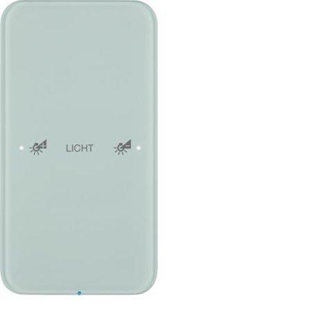 Touch-Sensor 1fach Komfort R.1 Glas konfiguriert polarweiß Hager 75141160