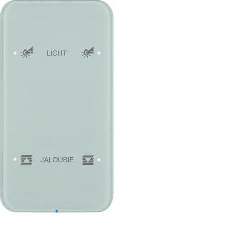 Touch-Sensor 2fach Komfort R.1 Glas konfiguriert polarweiß Hager 75142160