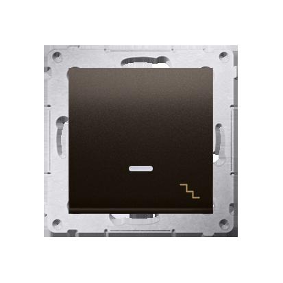 Treppenschalter (Modul) mit Aufdruck LED Braun matt Kontakt Simon 54 Premium DW6AL.01/46