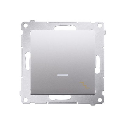 Treppenschalter (Modul) mit Aufdruck und Beleuchtung Silber Kontakt Simon 54 Premium DW6L.01/43