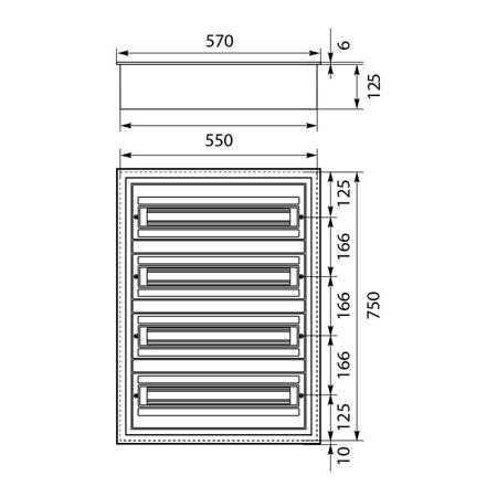 Unterverteilung DARP-96 Quiteline 4x24 IP54 Elektro-Plast 9.424