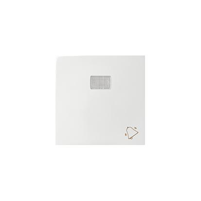 """Wippe 1fach Aufdruck """"Klingel"""" für Schalter/ Taster mit LED weiß glänzend Kontakt Simon 82 82015-30"""