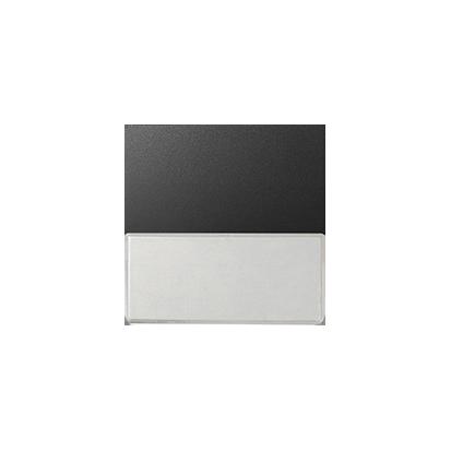 Wippe 1fach mit Beschriftungsfeld graphit matt Kontakt Simon 82 82063-38