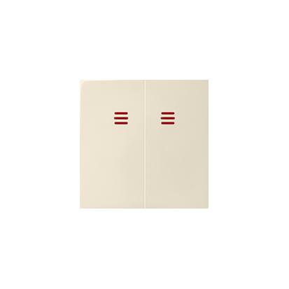 Wippen 2fach für Schalter/ Taster mit Beleuchtung beige matt Kontakt Simon 82025-31