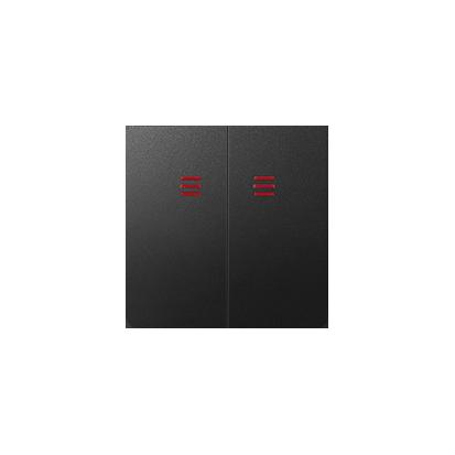 Wippen 2fach für Schalter/ Taster mit Beleuchtung graphit matt Kontakt Simon 82025-38