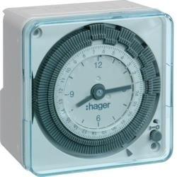 Wochenzeitschaltuhr, 1P/16A, 1mod. , kompakt, analog EH770 Hager